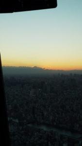 スカイツリーから富士山